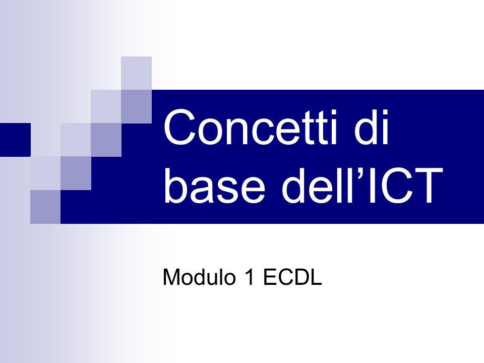 Concetti di base dellICT Modulo 1 ECDL
