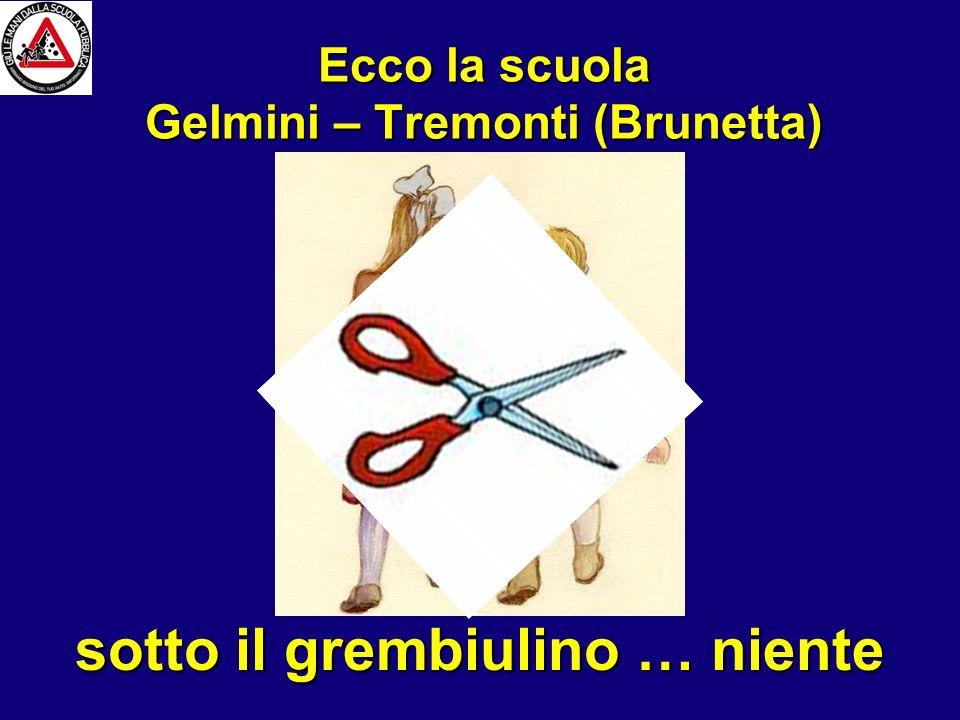 … ovvero Ecco la scuola Gelmini – Tremonti (Brunetta) sotto il grembiulino … niente