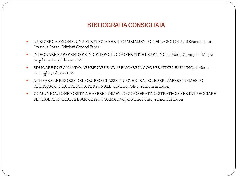 BIBLIOGRAFIA CONSIGLIATA LA RICERCA AZIONE.