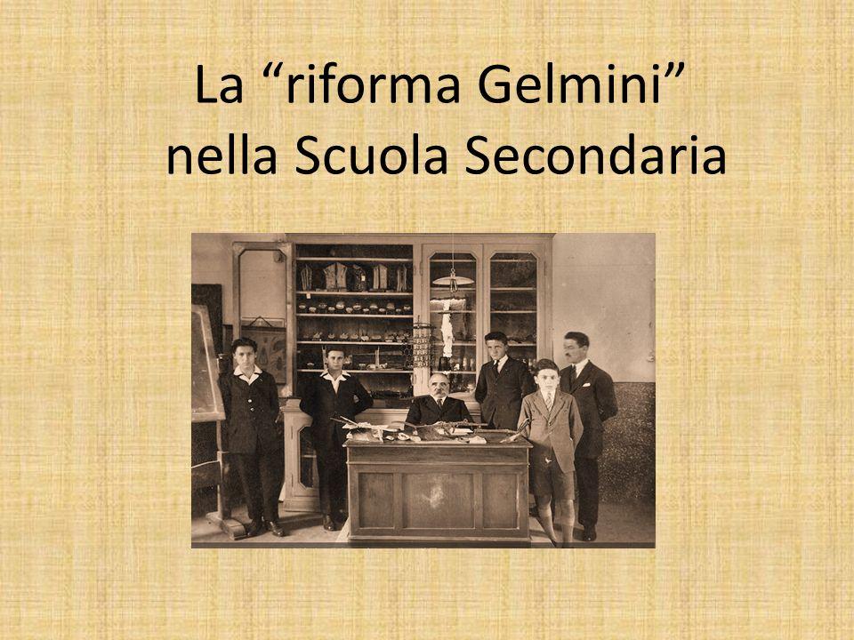 La riforma Gelmini nella Scuola Secondaria