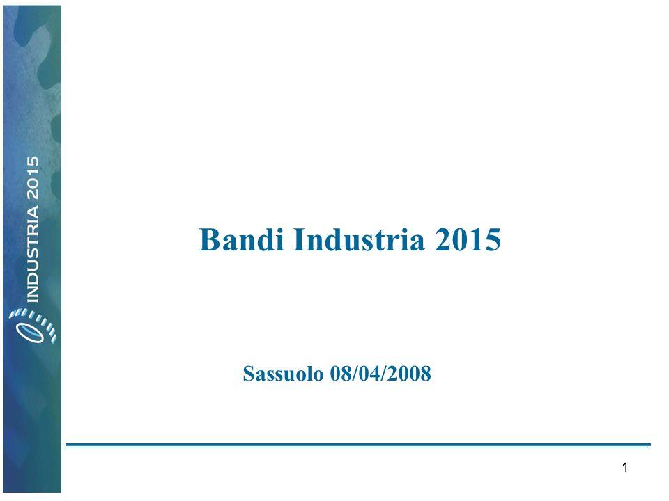2 Azione Strategica di Innovazione Industriale Efficienza energetica 30 aprile - 30 giugno 2008.