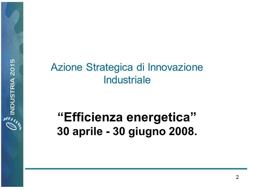 13 Azione Strategica di Innovazione Industriale Made in Italy
