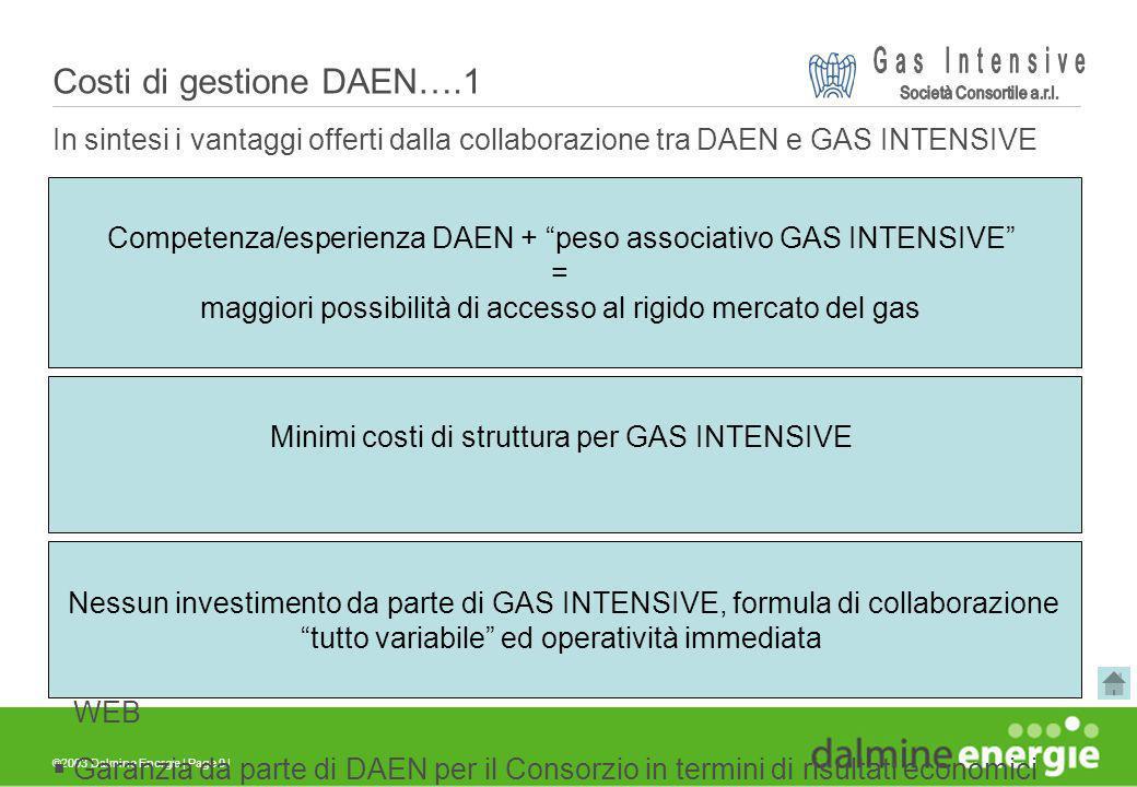 ©2003 Dalmine Energie | Page 9 | In sintesi i vantaggi offerti dalla collaborazione tra DAEN e GAS INTENSIVE sono: Supporto da parte di DAEN nella fas