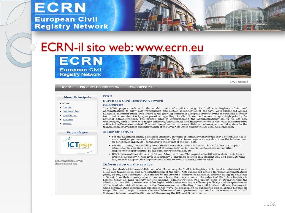 ….18. ECRN-il sito web: www.ecrn.eu