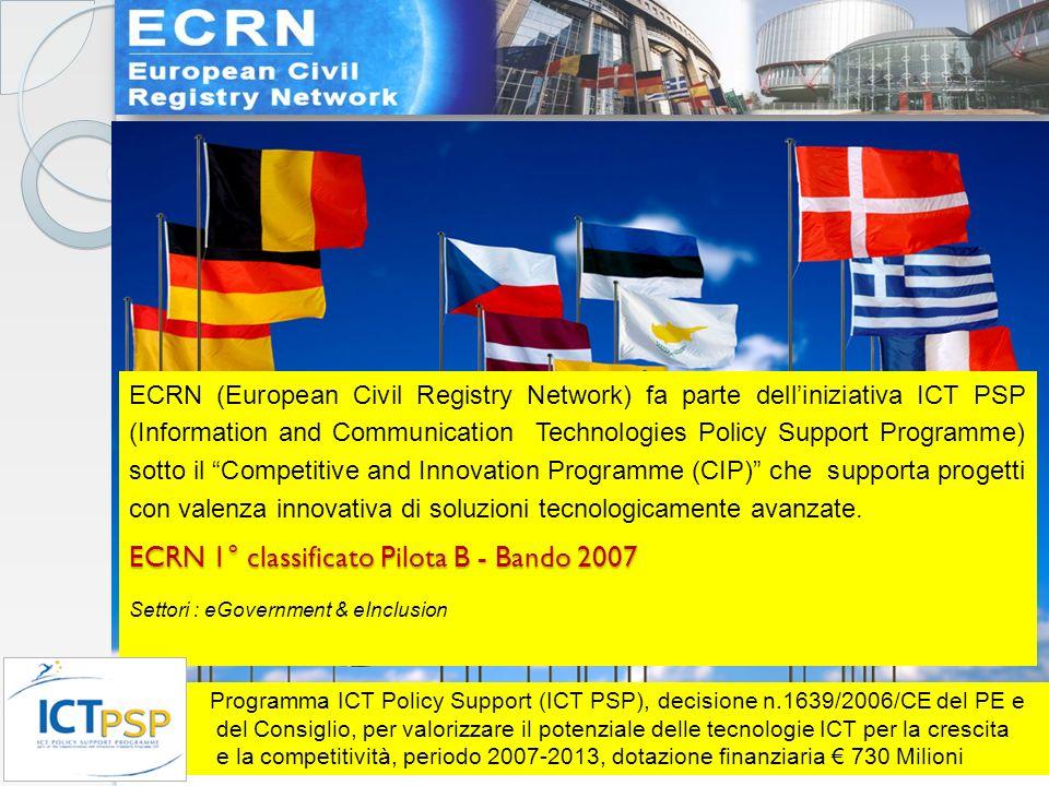 ….4. Programma ICT Policy Support (ICT PSP), decisione n.1639/2006/CE del PE e del Consiglio, per valorizzare il potenziale delle tecnologie ICT per l