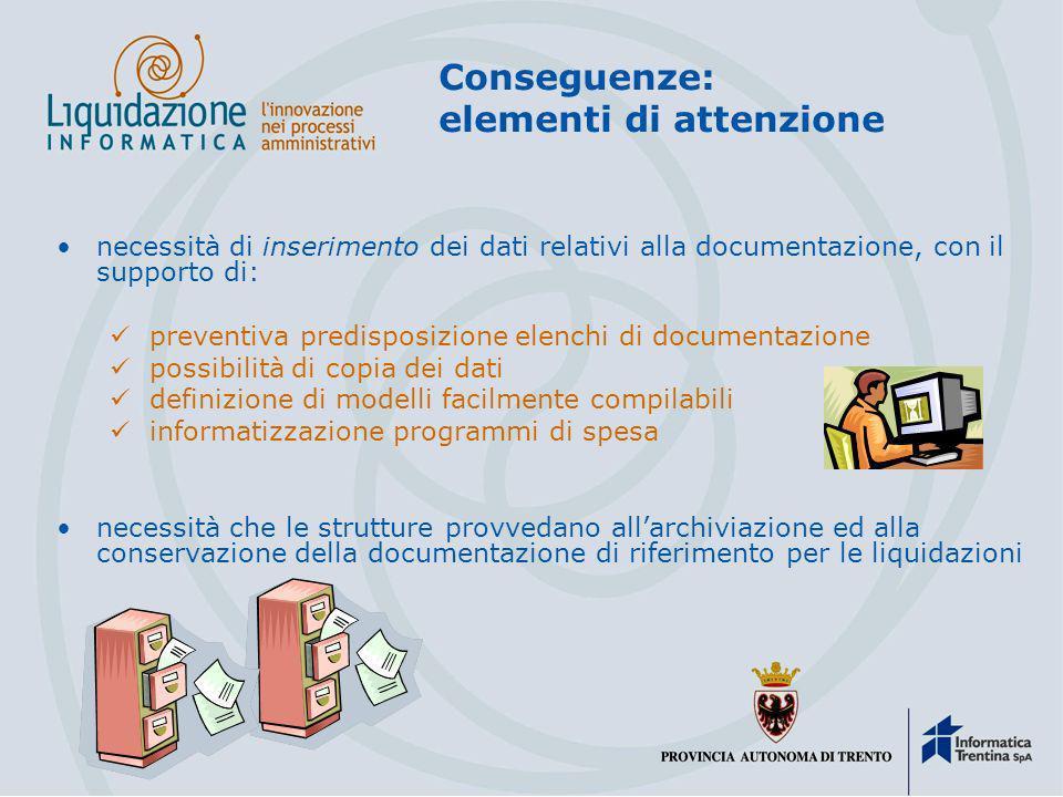 Conseguenze: aspetti positivi Risparmi di tempo e di costo organicità e semplificazione della raccolta della documentazione (solo citata) accelerazion