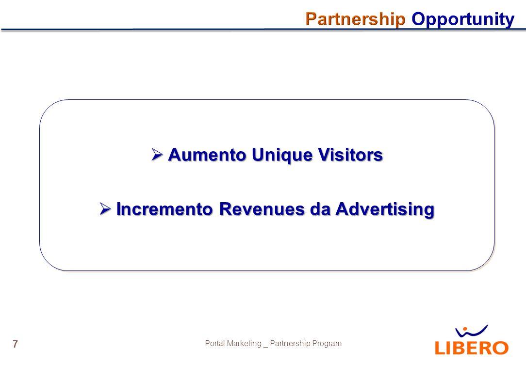 8 Portal Marketing _ Partnership Program Mix editoriale Icona e box su HP Libero DEM Press Relaise Lanci Editoriali in Top Stories Investimenti out of Libero (es.