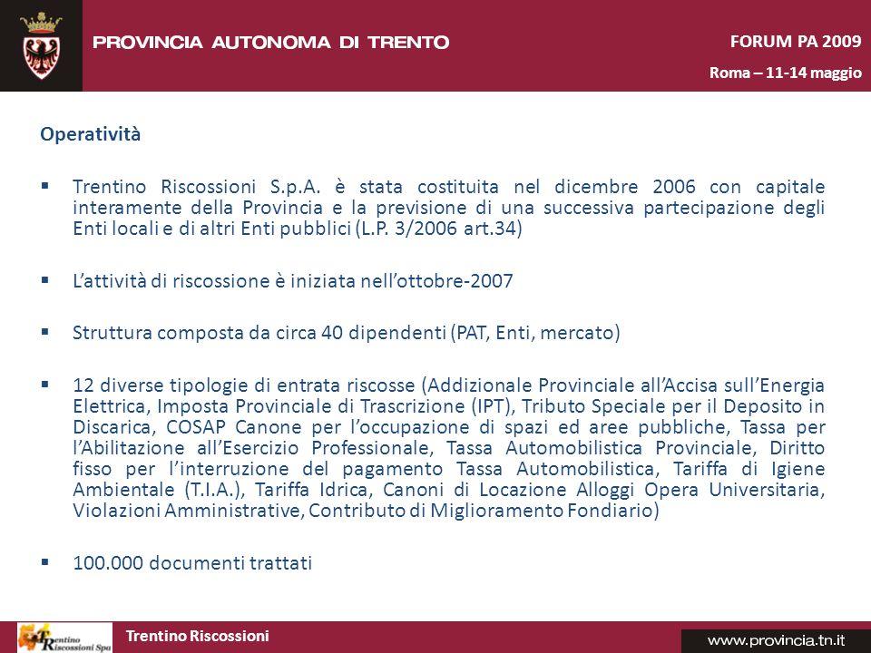 Trentino Riscossioni FORUM PA 2009 Roma – 11-14 maggio
