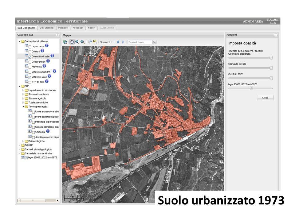 Suolo urbanizzato 1973