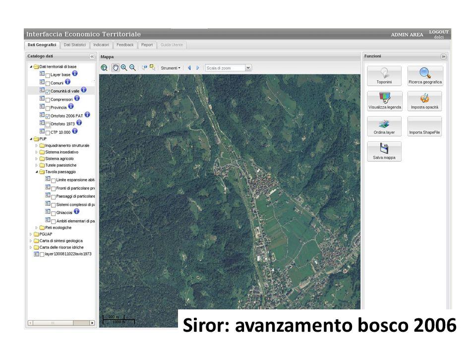 Siror: avanzamento bosco 2006