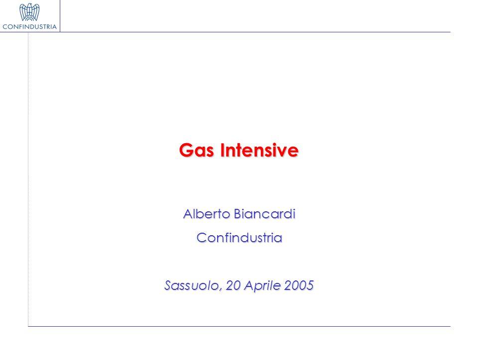 Gas Intensive Alberto Biancardi Confindustria Sassuolo, 20 Aprile 2005