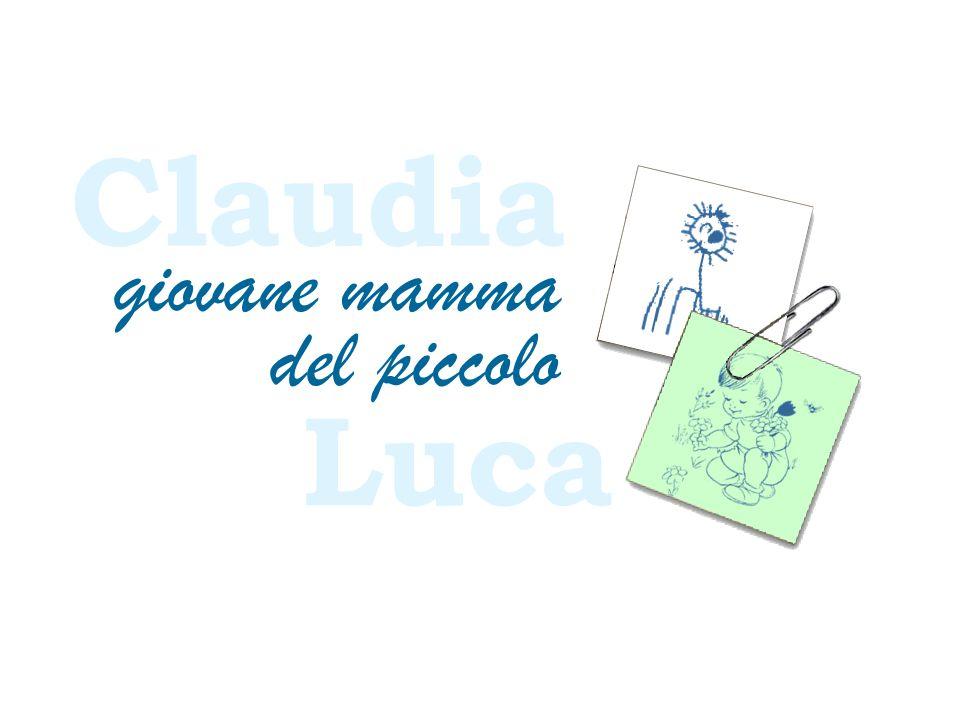 Claudia giovane mamma del piccolo Luca