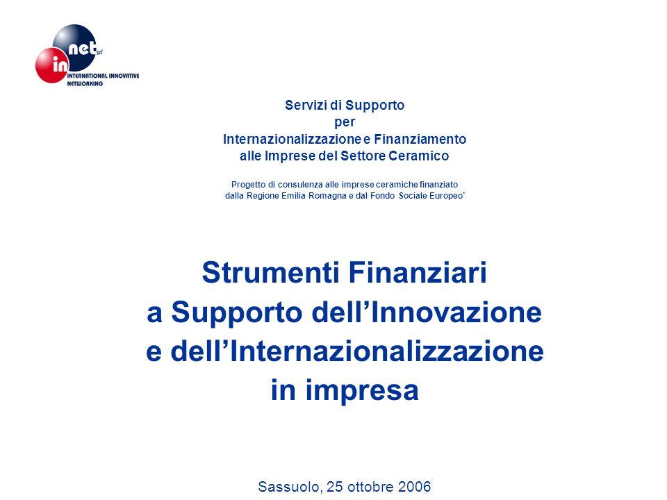 Servizi di Supporto per Internazionalizzazione e Finanziamento alle Imprese del Settore Ceramico Progetto di consulenza alle imprese ceramiche finanzi