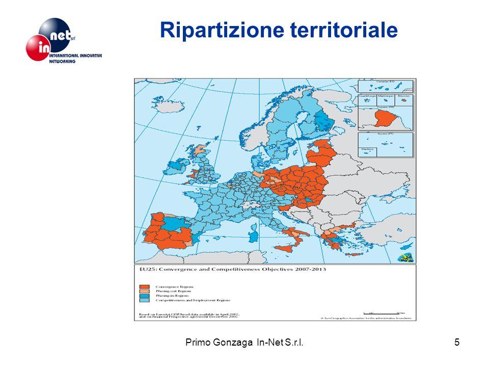 Primo Gonzaga In-Net S.r.l.5 Ripartizione territoriale