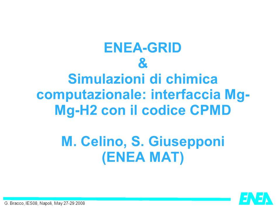 ENEA-GRID & Simulazioni di chimica computazionale: interfaccia Mg- Mg-H2 con il codice CPMD M.
