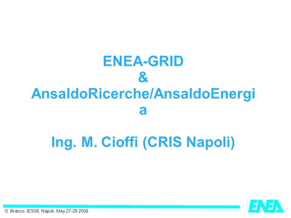 ENEA-GRID & AnsaldoRicerche/AnsaldoEnergi a Ing. M.