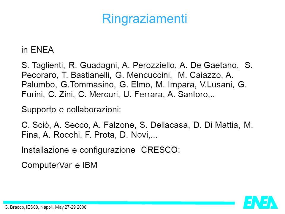in ENEA S. Taglienti, R. Guadagni, A. Perozziello, A.