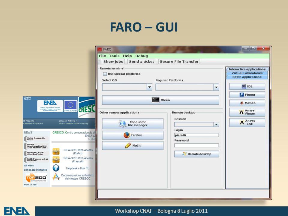 Workshop CNAF – Bologna 8 Luglio 2011 FARO – Shell e CLI