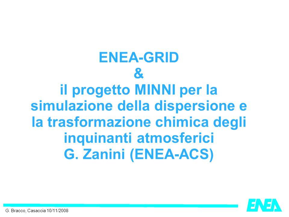 ENEA-GRID & il progetto MINNI per la simulazione della dispersione e la trasformazione chimica degli inquinanti atmosferici G.