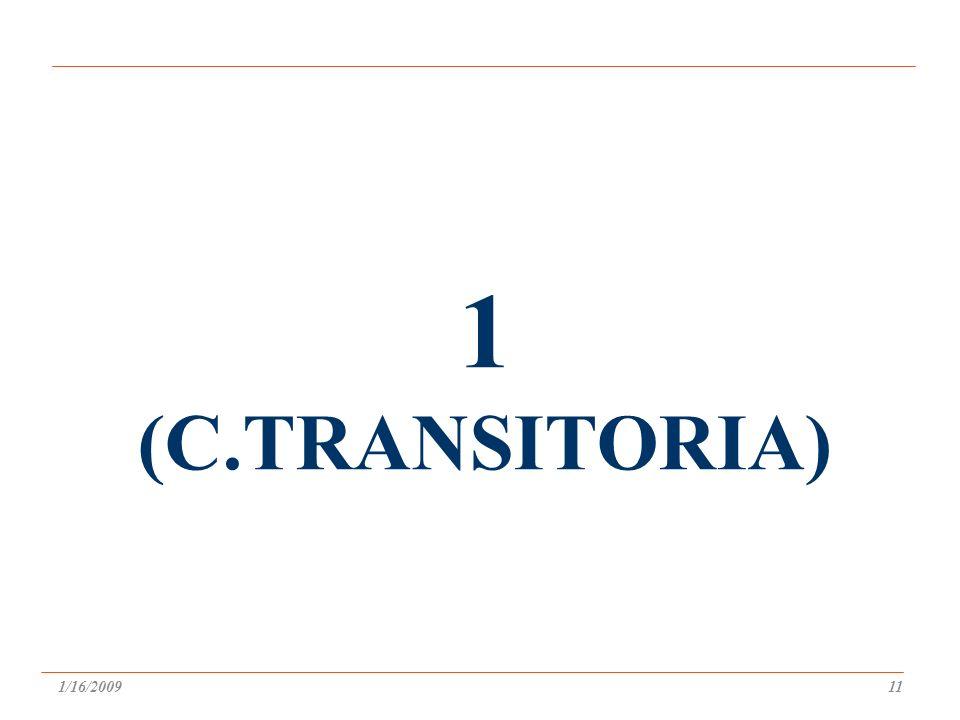 1 (C.TRANSITORIA) 1/16/200911