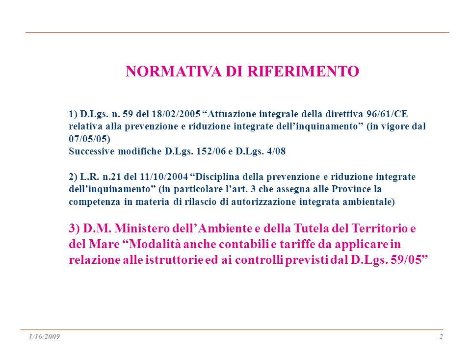 1) D.Lgs. n.