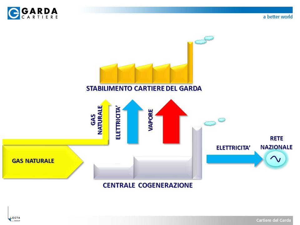 CENTRALE COGENERAZIONE STABILIMENTO CARTIERE DEL GARDA GAS NATURALE ELETTRICITA VAPORE ELETTRICITA RETENAZIONALE