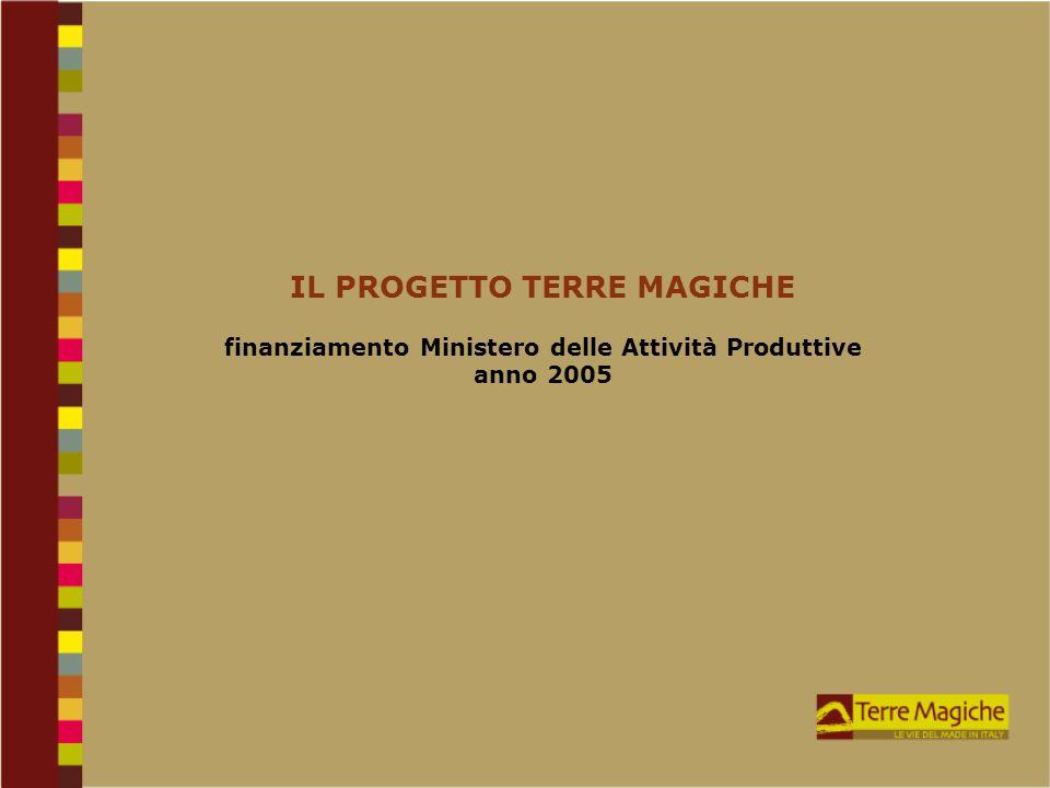 IL PROGETTO TERRE MAGICHE finanziamento Ministero delle Attività Produttive anno 2005
