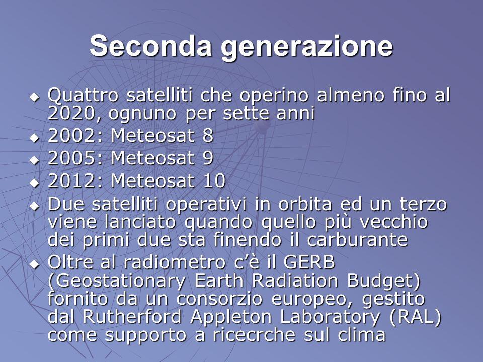 Seconda generazione Quattro satelliti che operino almeno fino al 2020, ognuno per sette anni Quattro satelliti che operino almeno fino al 2020, ognuno