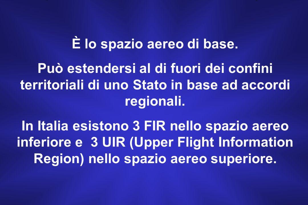 FIR Spazio aereo di definite dimensioni entro il quale vengono forniti il Servizio Informazioni Volo ed il Servizio di Allarme.