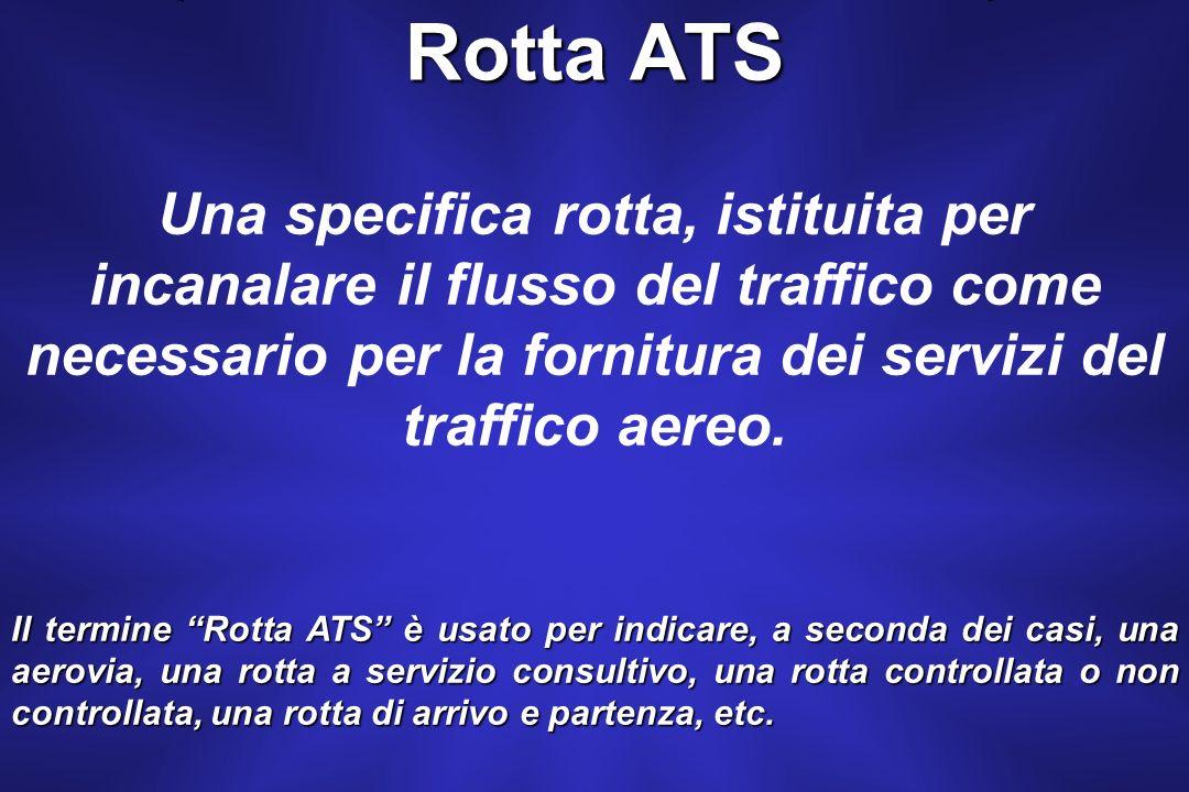 La CTA è uno spazio aereo definito, che include una serie di rotte ATS, allinterno del quale si fornisce il Servizio di Controllo (ATCs).