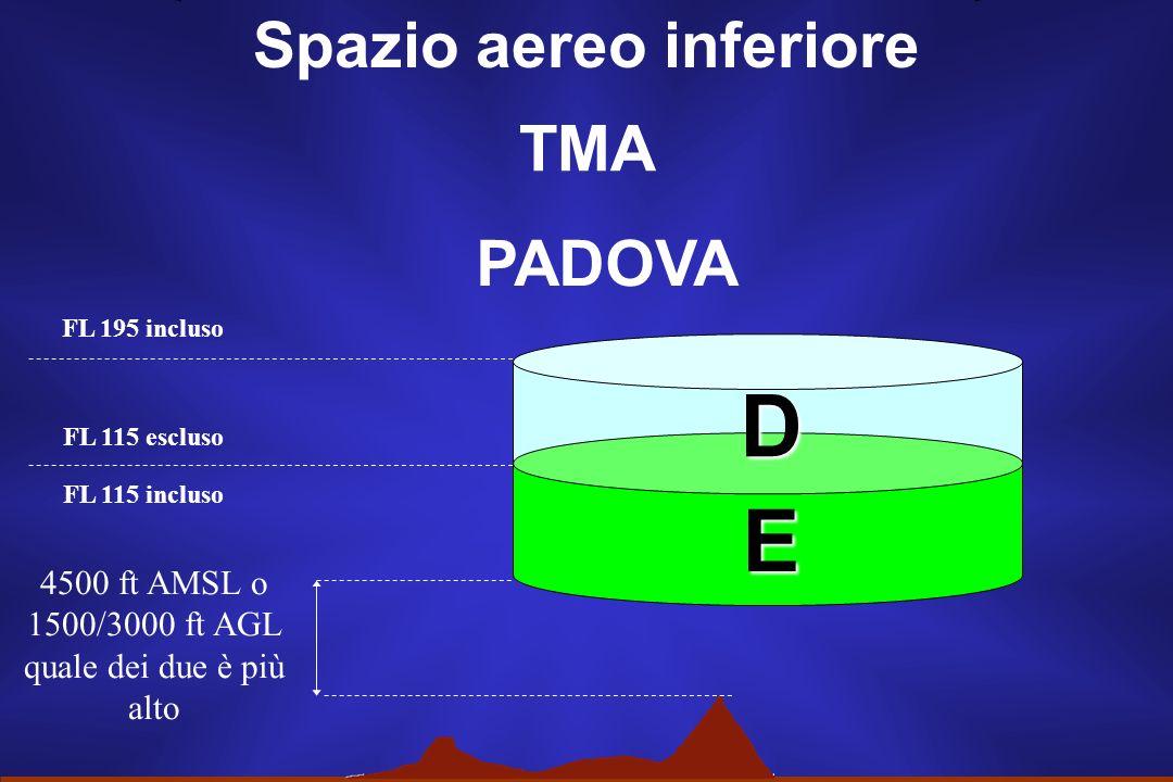 Spazio aereo inferiore TMA ROMA 2500 ft AMSL o 1500 ft AGL quale dei due è più alto FL 195 incluso A