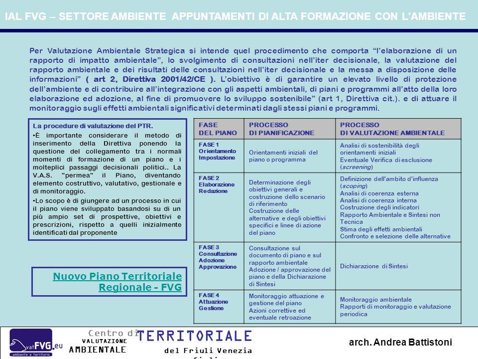 La procedure di valutazione del PTR. È importante considerare il metodo di inserimento della Direttiva ponendo la questione del collegamento tra i nor