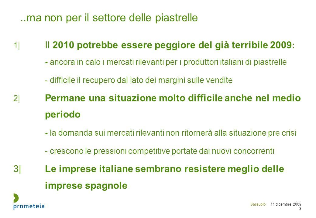 Sassuolo 11 dicembre 2009 24 Redditività del capitale proprio delle imprese italiane e spagnole Fatt.