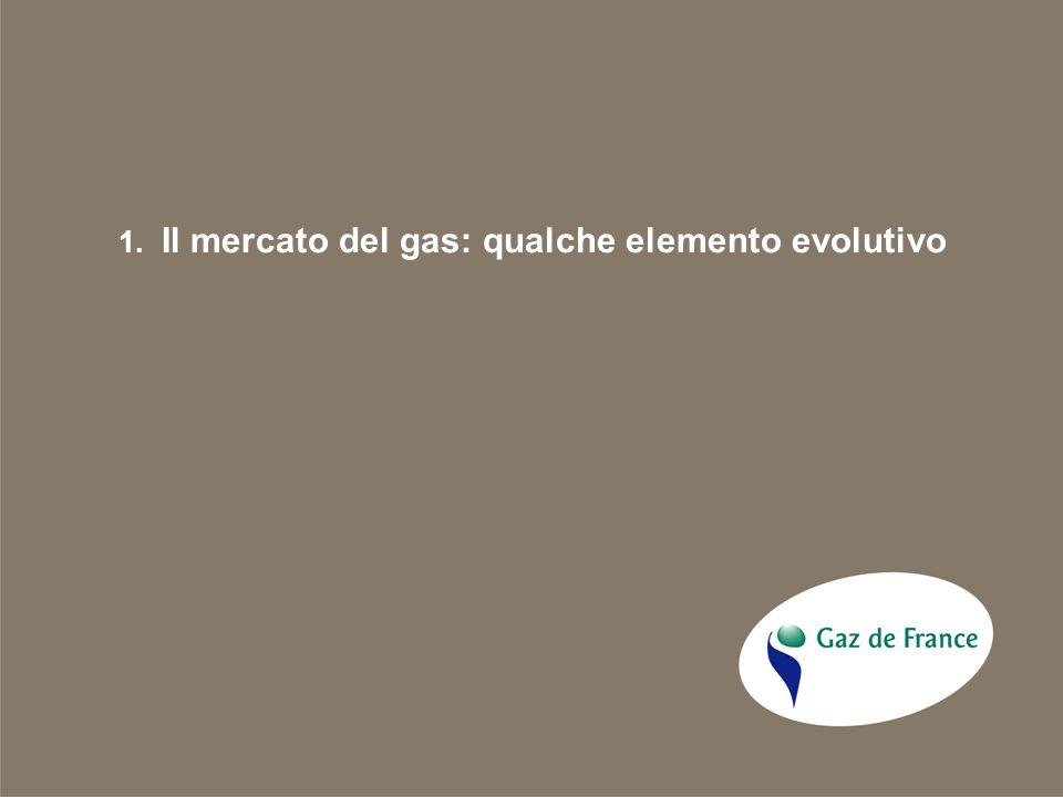 1. Il mercato del gas: qualche elemento evolutivo