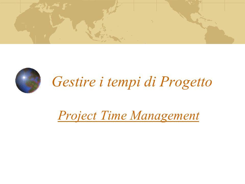 Gestire i tempi di Progetto Project Time Management