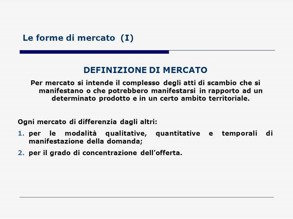 Ogni impresa si collega con: a) il mercato del lavoro, da cui attingere la manodopera; b) il mercato della produzione, da cui attingere le materie pri