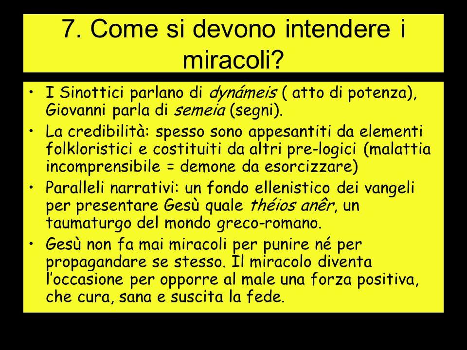 7.Come si devono intendere i miracoli.