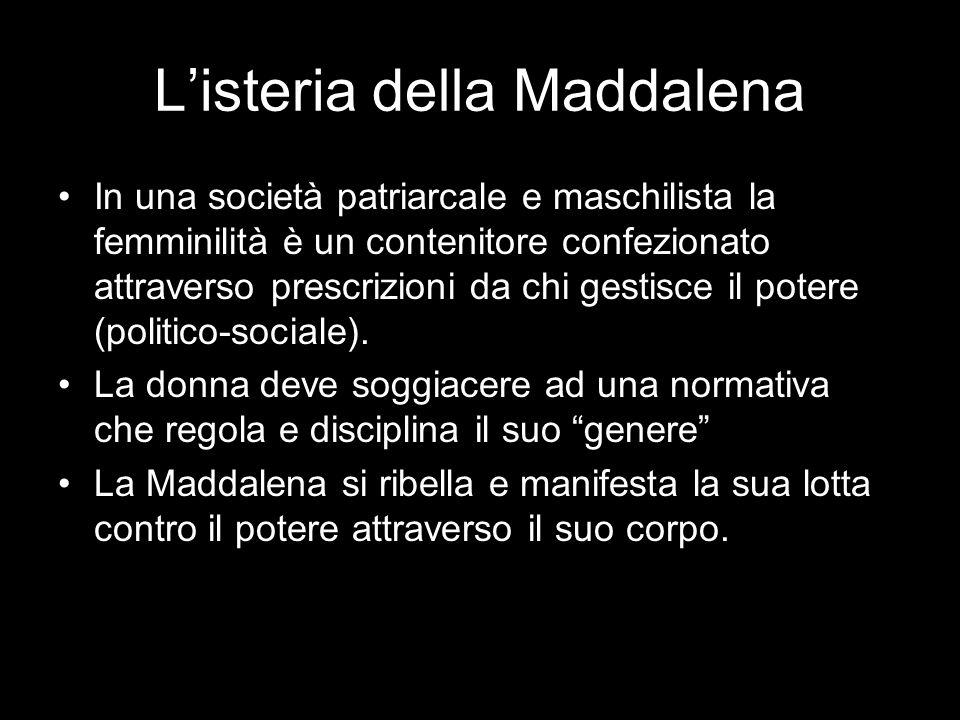 Listeria della Maddalena In una società patriarcale e maschilista la femminilità è un contenitore confezionato attraverso prescrizioni da chi gestisce