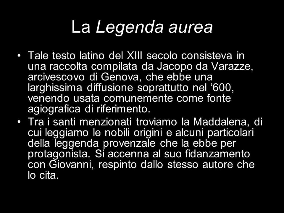 La Legenda aurea Tale testo latino del XIII secolo consisteva in una raccolta compilata da Jacopo da Varazze, arcivescovo di Genova, che ebbe una larg