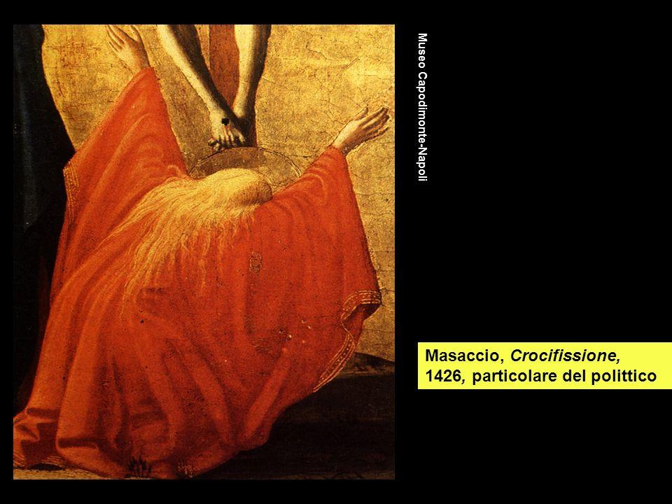 Masaccio, Crocifissione, 1426, particolare del polittico Museo Capodimonte-Napoli