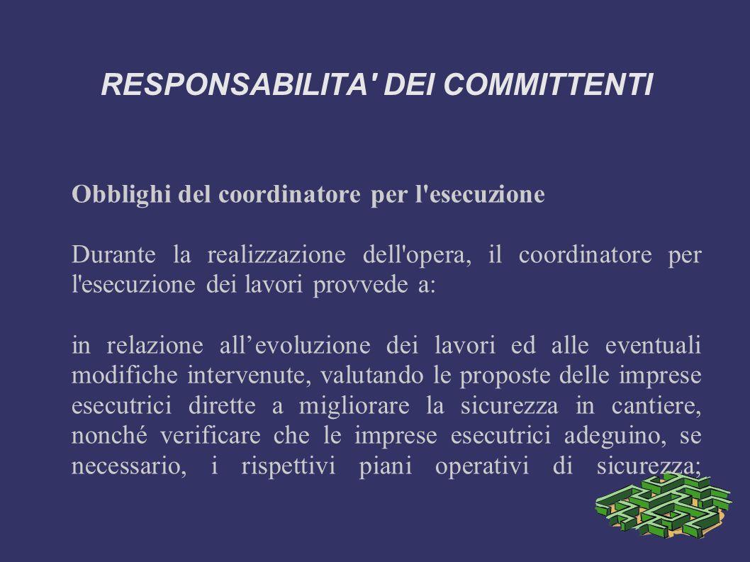 RESPONSABILITA DEI COMMITTENTI L art.