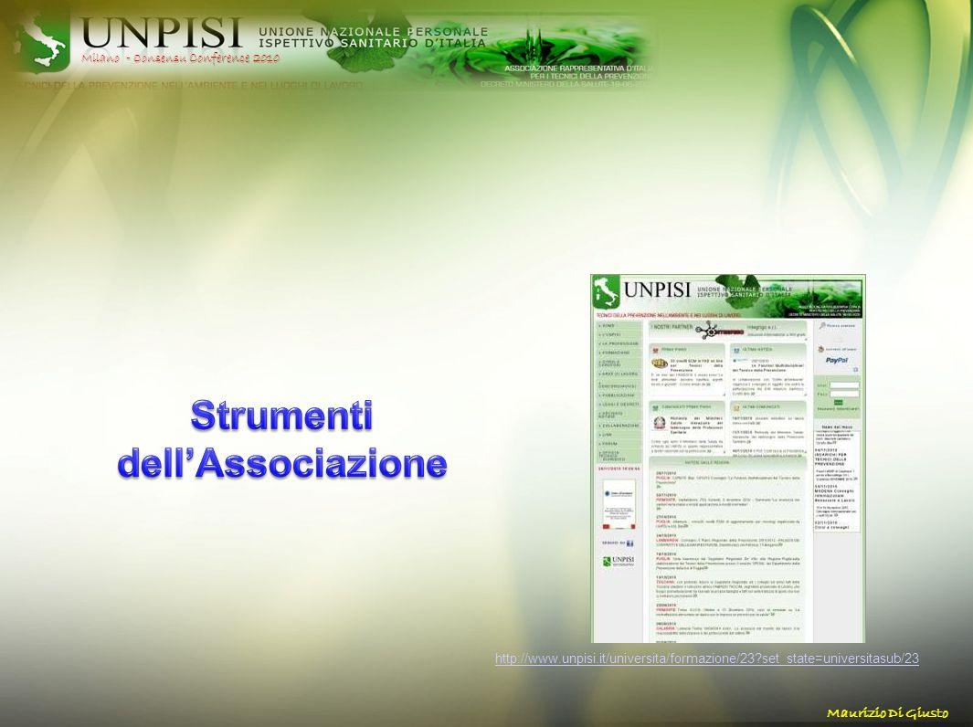 http://www.unpisi.it/universita/formazione/23?set_state=universitasub/23 Milano - Consensu Conference 2010 Maurizio Di Giusto