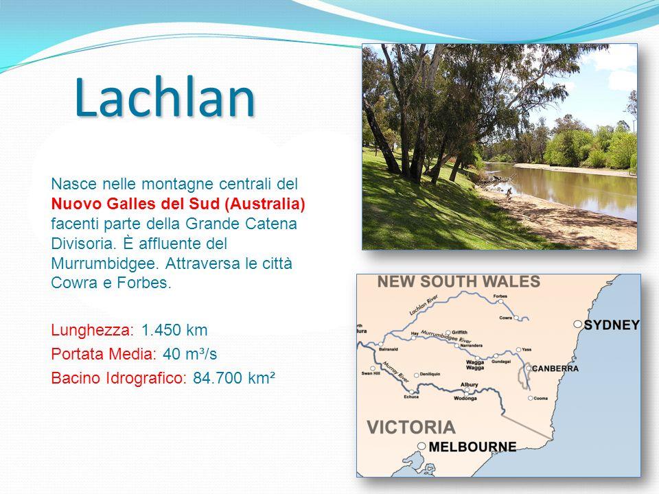 Lachlan Nasce nelle montagne centrali del Nuovo Galles del Sud (Australia) facenti parte della Grande Catena Divisoria. È affluente del Murrumbidgee.