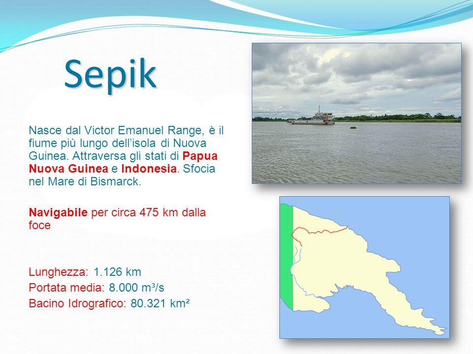 Nasce dal Victor Emanuel Range, è il fiume più lungo dellisola di Nuova Guinea. Attraversa gli stati di Papua Nuova Guinea e Indonesia. Sfocia nel Mar