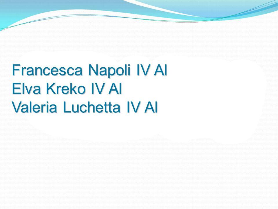Francesca Napoli IV Al Elva Kreko IV Al Valeria Luchetta IV Al