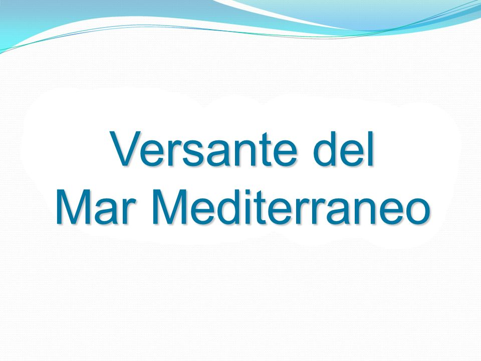 Versante del Mar Mediterraneo