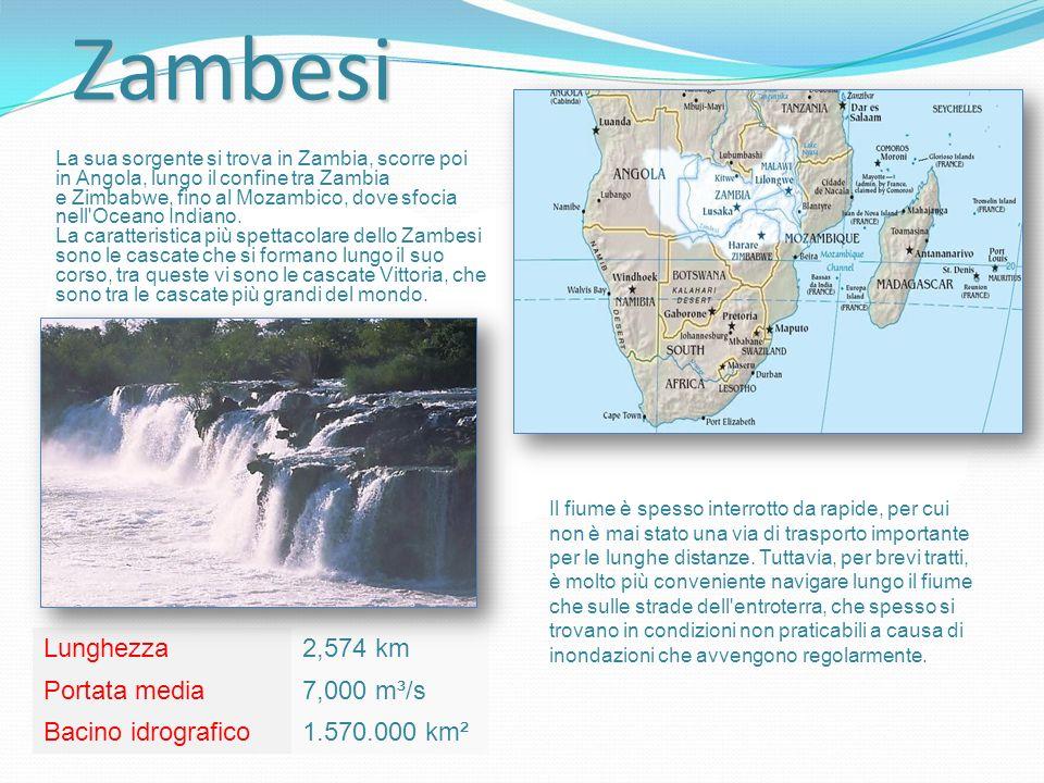 La sua sorgente si trova in Zambia, scorre poi in Angola, lungo il confine tra Zambia e Zimbabwe, fino al Mozambico, dove sfocia nell Oceano Indiano.