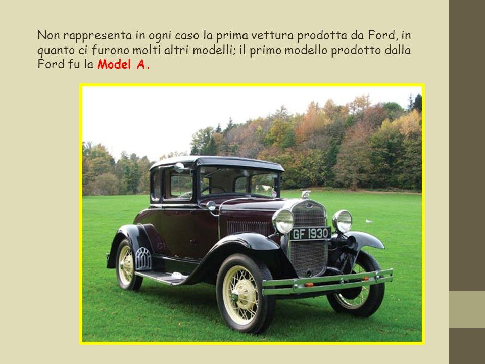 Non rappresenta in ogni caso la prima vettura prodotta da Ford, in quanto ci furono molti altri modelli; il primo modello prodotto dalla Ford fu la Mo