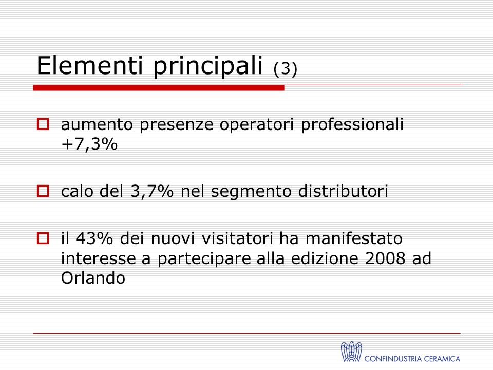 Seminari più partecipati (2) Future Color / Design Trends: Fulfilling Client / Customers Need 302 presenze NAHB Economic Forecast 275 presenze Merchandise Your Showroom for the Ideal Customer Experience and You Will Sell more Tiles 219 presenze