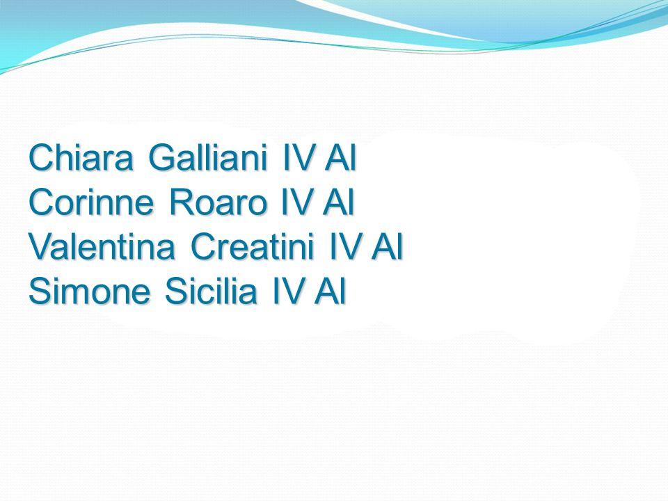 Chiara Galliani IV Al Corinne Roaro IV Al Valentina Creatini IV Al Simone Sicilia IV Al
